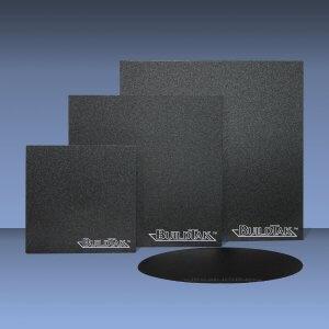 Darstellung von drei BuildTak Druckbett Beschichtungen in verschiedenen Größen